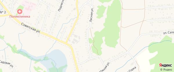 Лесная улица на карте села Ермолаево с номерами домов