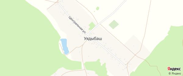 Центральная улица на карте деревни Уядыбаша с номерами домов