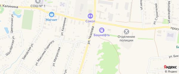 Улица Чкалова на карте села Ермолаево с номерами домов