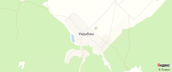 Карта деревни Уядыбаша в Башкортостане с улицами и номерами домов