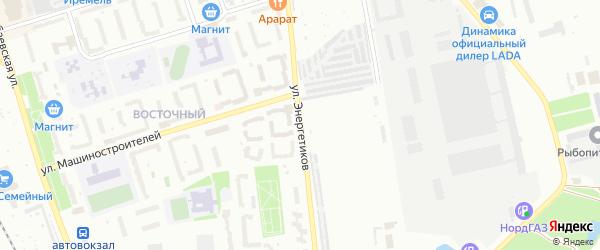 Улица Энергетиков на карте Агидели с номерами домов
