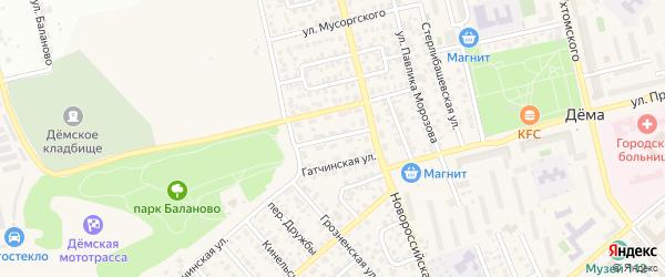 Ивановская улица на карте Уфы с номерами домов