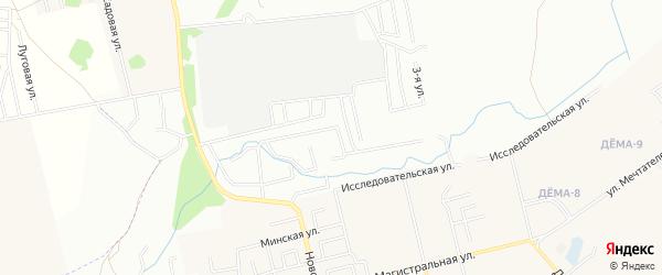 СНТ Рассвет на карте Кармаскалинского района с номерами домов
