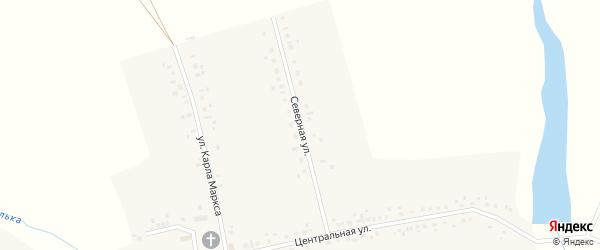 Северная улица на карте села Месели с номерами домов