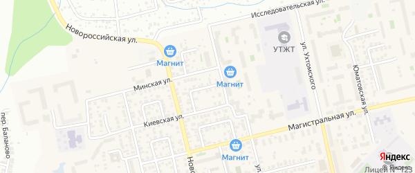 Первоминский переулок на карте Уфы с номерами домов
