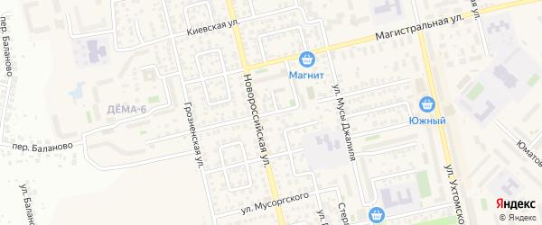 Альшеевская улица на карте Уфы с номерами домов