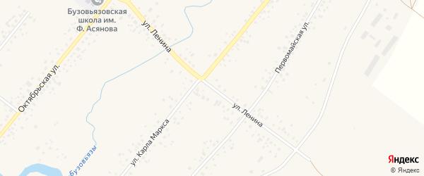 Улица Ленина на карте села Бузовьязы с номерами домов