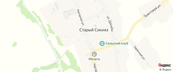 Нагорная улица на карте деревни Старого Сикияза с номерами домов