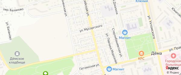 Малая Кольцевая улица на карте Уфы с номерами домов