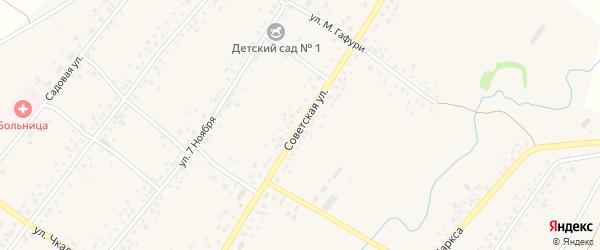 Советская улица на карте села Бузовьязы с номерами домов