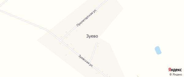 Пролетарская улица на карте деревни Зуево с номерами домов