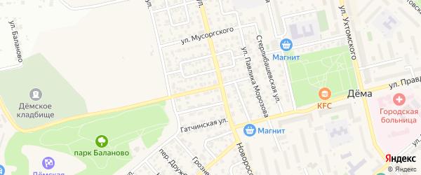 Переулок Павлика Морозова на карте Уфы с номерами домов