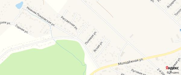 Полевая улица на карте села Миловки с номерами домов