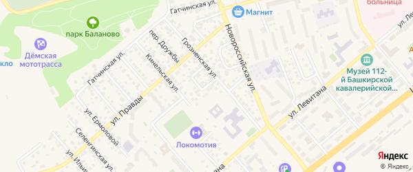Переулок Можайского на карте Уфы с номерами домов