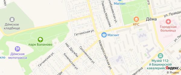 Рузаевский переулок на карте Уфы с номерами домов