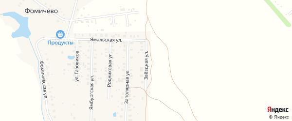 Звездная улица на карте деревни Фомичево с номерами домов