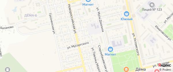 Светофорный переулок на карте Уфы с номерами домов