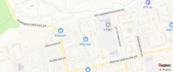 Минская улица на карте Уфы с номерами домов
