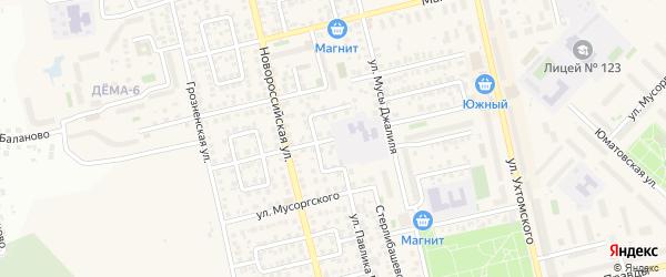 Аургазинская улица на карте Уфы с номерами домов