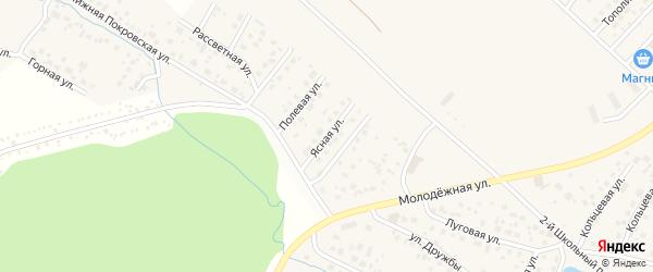 Ясная улица на карте села Миловки с номерами домов