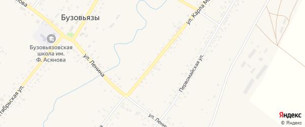 Улица К.Маркса на карте села Бузовьязы с номерами домов