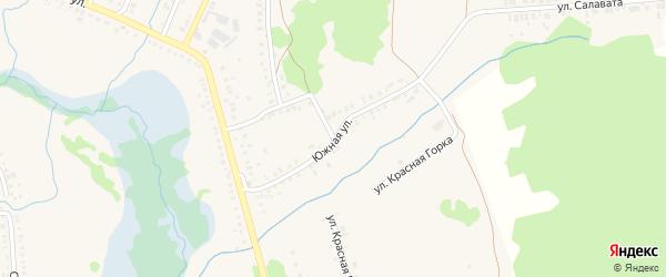 Южная улица на карте села Ермолаево с номерами домов