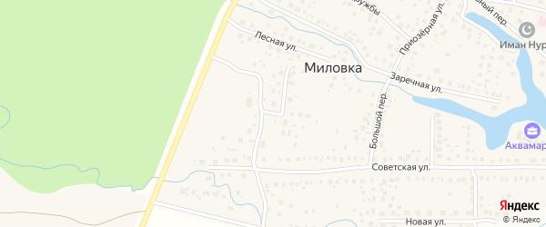 Улица Новоселов на карте села Миловки с номерами домов