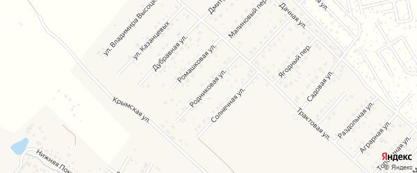 Родниковая улица на карте села Миловки с номерами домов