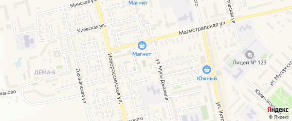 Альшеевский переулок на карте Уфы с номерами домов
