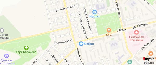 Станционная улица на карте Уфы с номерами домов