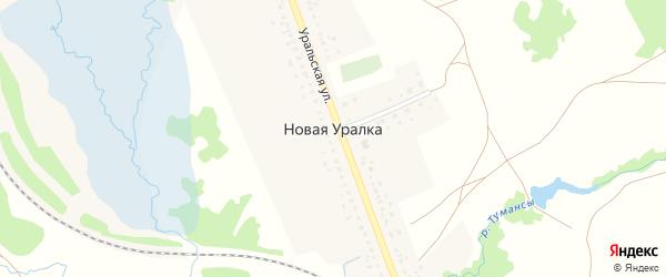 Улица Надежды на карте деревни Новой Уралки с номерами домов