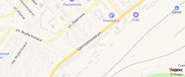 Центральная улица на карте села Старые Турбаслы с номерами домов