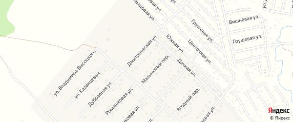 Дмитриевская улица на карте села Миловки с номерами домов