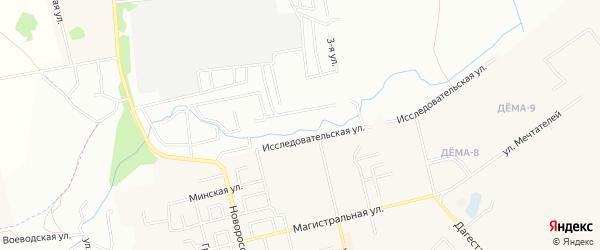 СНТ Железнодорожник на карте Чишминского района с номерами домов