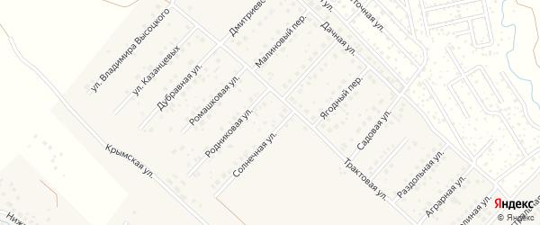 Центральная улица на карте села Миловки с номерами домов