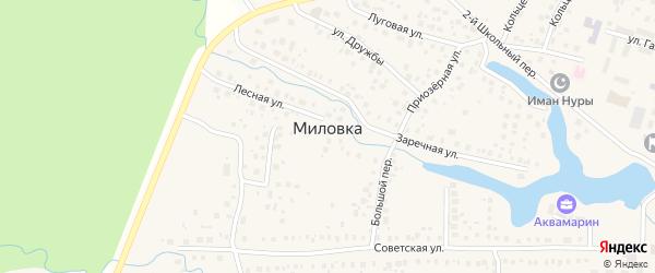 1-й Школьный переулок на карте села Миловки с номерами домов