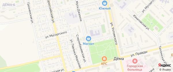 Улица Мусы Джалиля на карте Уфы с номерами домов