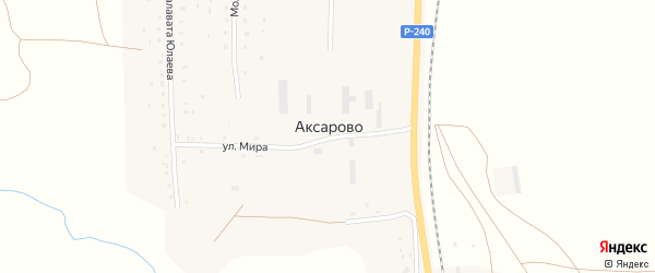 Аксаровская улица на карте деревни Аксарово с номерами домов
