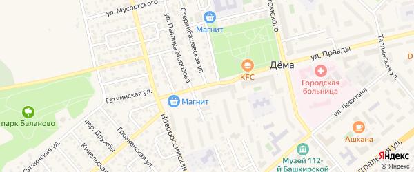 Стерлибашевская улица на карте Уфы с номерами домов