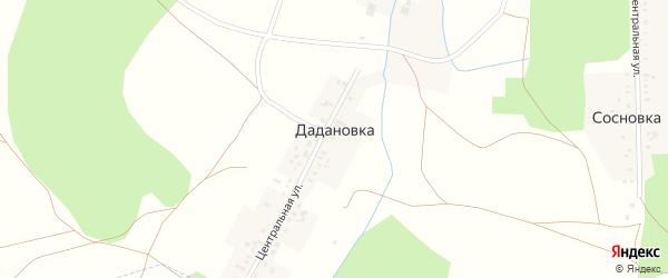 Центральная улица на карте деревни Дадановки с номерами домов
