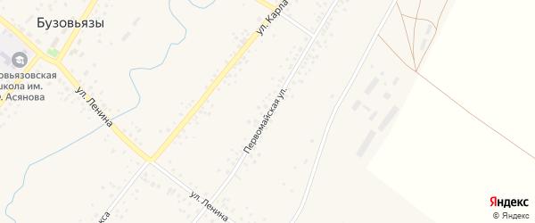 Первомайская улица на карте села Бузовьязы с номерами домов