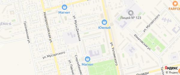 Полесская улица на карте Уфы с номерами домов