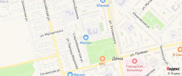 Улица Островского на карте Уфы с номерами домов