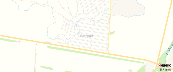 СНТ Ветеран на карте Стерлитамакского района с номерами домов