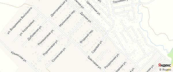 Ягодный переулок на карте села Миловки с номерами домов