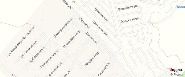 Дачная улица на карте села Миловки с номерами домов