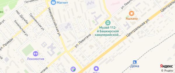 Улица Левитана на карте Уфы с номерами домов