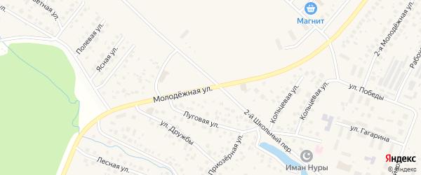 Молодежная улица на карте села Миловки с номерами домов