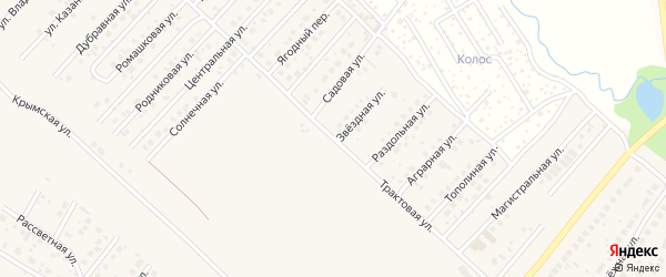 Спортивная улица на карте села Миловки с номерами домов