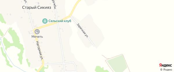 Заречная улица на карте деревни Старого Сикияза с номерами домов